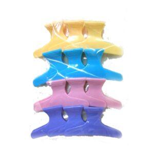 קליפס לשיער - מארז 12 יחידות צבעוני